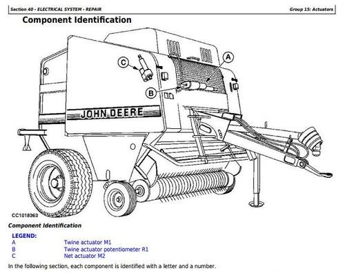 Product picture John Deere 565 and 575 Hay and Forage Round Balers All Inclusive Technical Service Manual (tm3282)