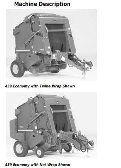 Product picture John Deere 459 Economy Hay and Forage Round Balers All Inclusive Technical Manual (TM140619)